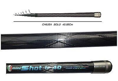 Dedito Canna Minishot 3.60m Azione 20g Carbonio Pesca Trota Torrente Galleggiante Mare