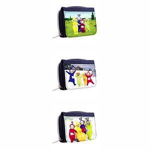 TELETUBBIES New Denim Tri-Fold Half Wallet w  ID Window Button  f1a5ade781