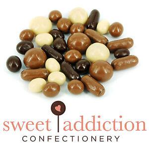 500g Premium White Milk and Dark Chocolate Covered TV Mix - Assorted Choc Sweets