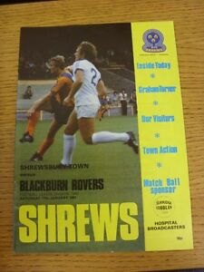 17011981 Shrewsbury Town v Blackburn Rovers  No Major Faults Noted - <span itemprop=availableAtOrFrom>Birmingham, United Kingdom</span> - Returns accepted within 30 days after the item is delivered, if goods not as described. Buyer assumes responibilty for return proof of postage and costs. Most purchases from business s - Birmingham, United Kingdom