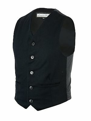 Skillful Knitting And Elegant Design Humble 100% Wool 5 Button Black Waistcoat /wedding /formal/party/waiters/vest/smart To Be Renowned Both At Home And Abroad For Exquisite Workmanship Men's Formal Occasion