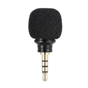 Mini-Stereo-Microphone-3-5mm-Mic-Laptop-Notebook-Mobile-Cell-Phone-BLACK
