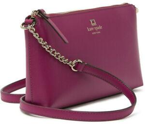 NWT-Kate-Spade-Chain-Declan-Crossbody-Red-Purple-Smooth-Leather-WKRU6081-248