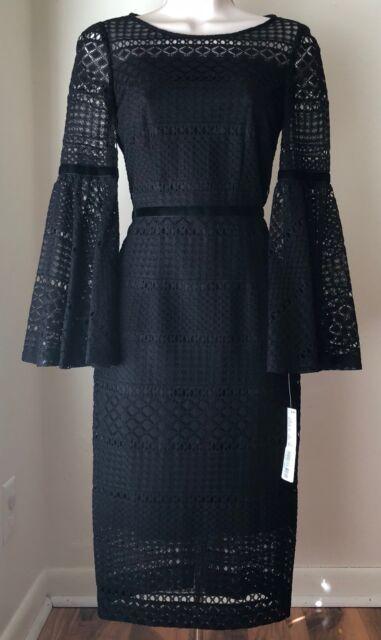 Antonio Melani Alfa Lace Bell Sleeve Dress Size 2 Regular 8 Ebay