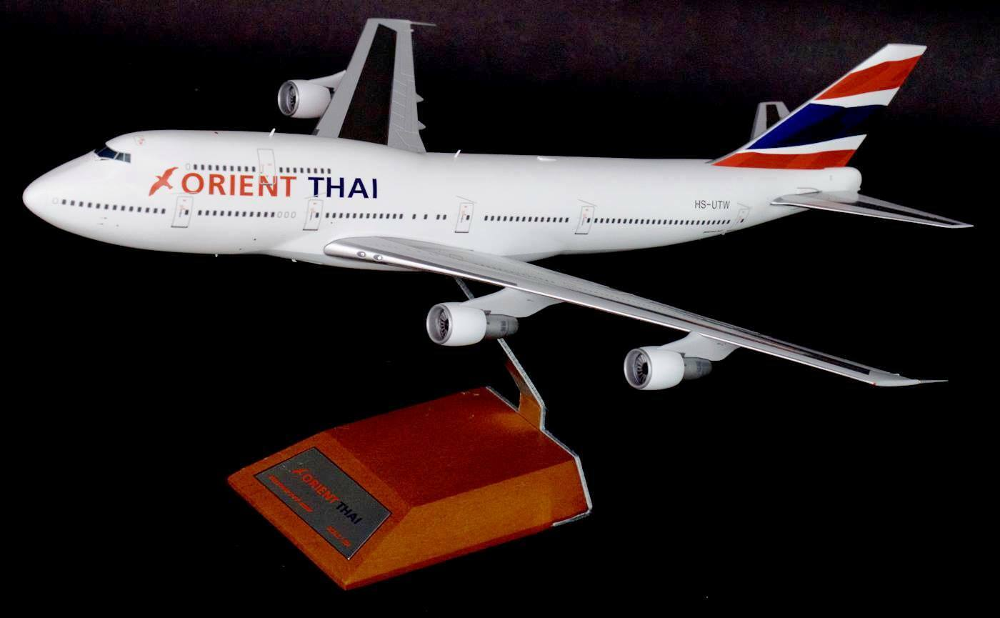 JC WINGS LH2041 1 200 ORIENT THAI AIRLINES BOEING 747-300 HS-UTW WITH STAND