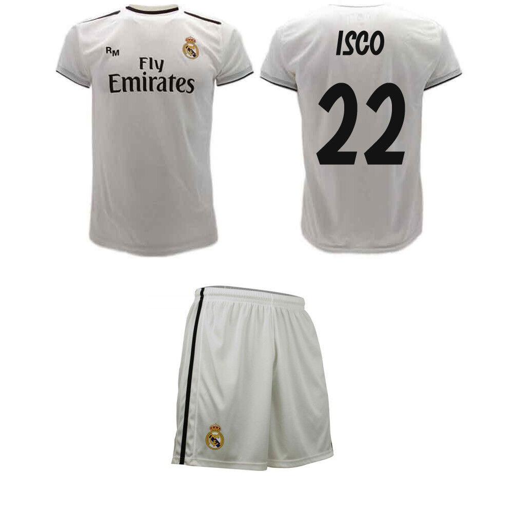 Set Isco offizielle Real 2019 Madrid 2019 Real Trikot und Shorts Francisco 22 8d611b