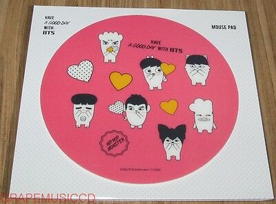 BANGTAN BOYS HIPHOP MONSTER CHARACTER GOODS HAVE A GOOD DAY BTS PINK MOUSE PAD