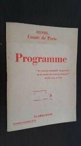 Fasciculo-Henri-De-Paris-Programa-Flammarion-Paris-1938