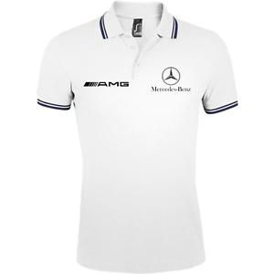 polo-homme-mercedes-amg-gris-noir-blanc-bleu-rouge-s-2xl-sport-chic
