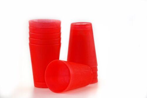 12 Plastik Trinkbecher 0,4 l Mehrwegtrinkbecher Partybecher Becher 6 Farben NEU