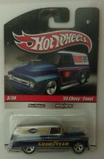 HOT WHEELS DELIVERY* GOODYEAR '55 CHEVY PANEL *REAL RIDERS