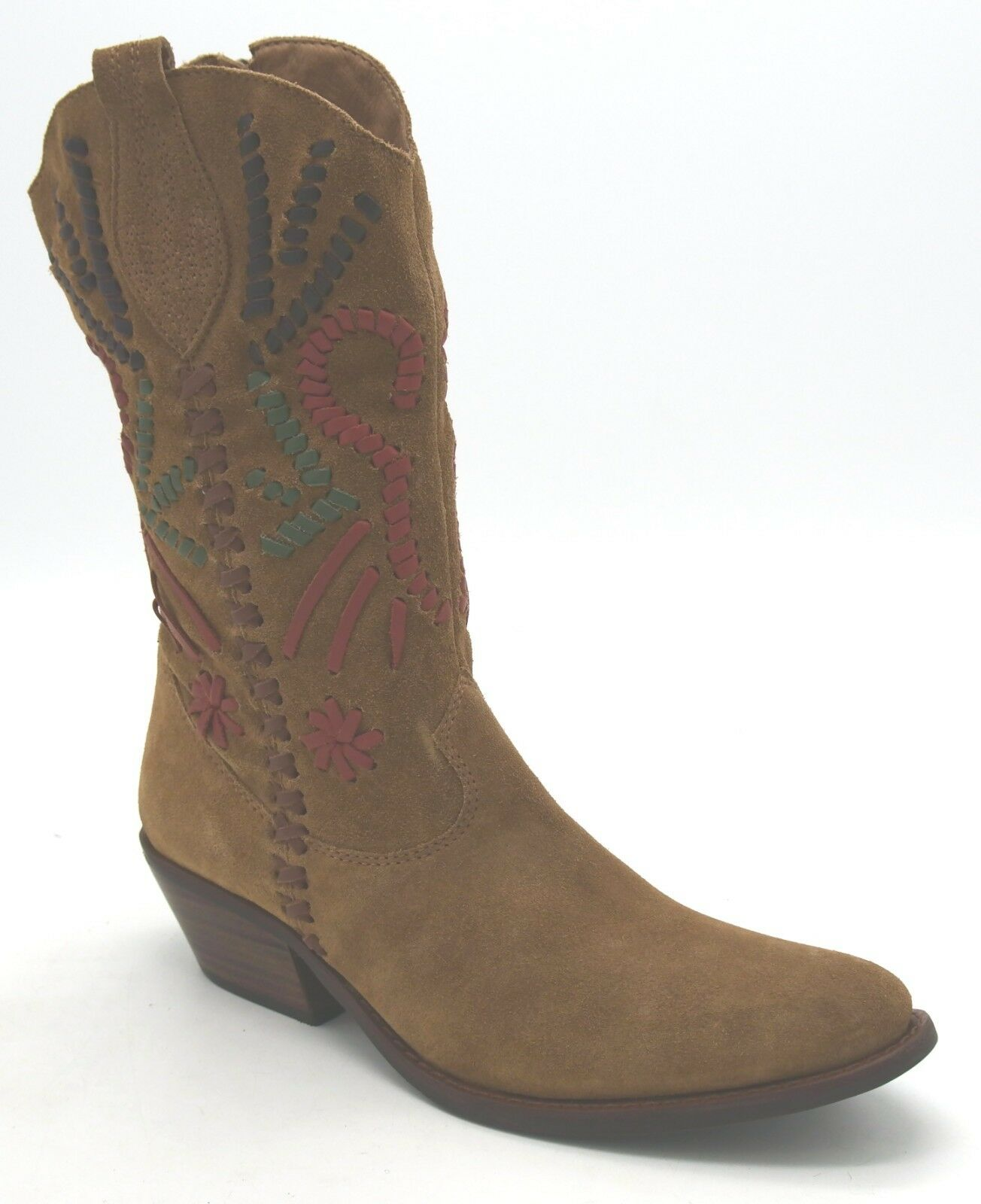 J6959 New Women's Diego Di Lucca Bullwhip Brown Brown Brown Multi color Cowboy Boot 9 M 8c5390