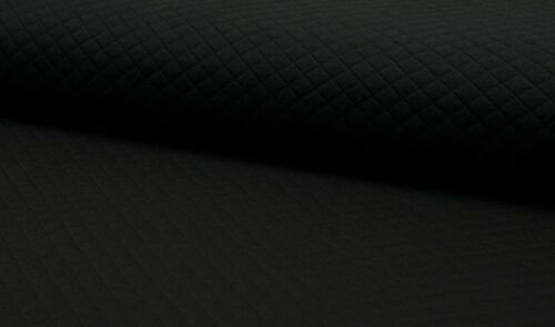 Diamond Jersey uni Quality Textiles schwarz Steppsweat 140 cm
