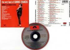 """CONNIE FRANCIS """"The Very Best Of"""" (CD) 1986"""