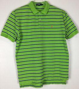 mens-ralph-lauren-polo-shirt-Large-short-sleeve-Striped-cotton