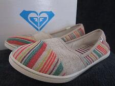 ROXY Womens Pier II Multi Color Textile Canvas Flats Slip On Shoes US 7.5 M NWB