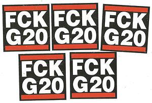 1000 FCK G20 Aufkleber stickers Antifa G 20 AFA Punk Ultras DKP KPD GNWP RASH