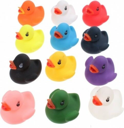 12 Bath Ducks In Gift Box Baby Shower Gifts Baby Bath Toys Kids Bathing Gifts