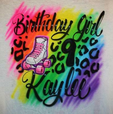 Girls Roller Skate Birthday Party T SHIRT Personalized skating Tutu 5th 6th 7th