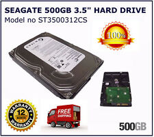 "Seagate 500gb SATA 3.5"" INTERNO PC DESKTOP HDD Hard Disk Drive"