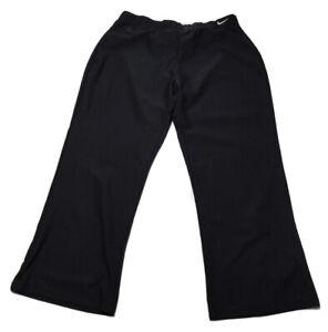 NIKE-Womens-Size-M-8-10-Black-Activewear-Capri-Stretch-Pants-Elastic-Waist