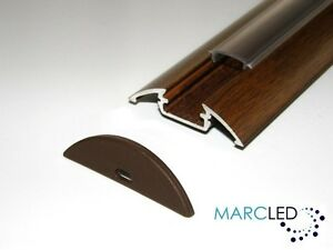 2m p4 led strip light aluminium profile wood wenge effect diffuser image is loading 2m p4 led strip light aluminium profile wood aloadofball Images