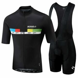 Morvelo-2019-HOMMES-Summer-Clothing-Cyclisme-Vetements-kits-a-manches-courtes-Cuissard