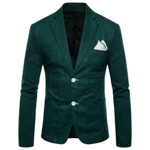 Men/'s Blazers Jacket Lapel Two Buttons Slim fit Formal Party dress Busiess Coat