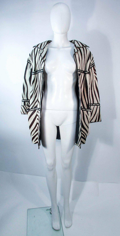 AMEN WARDY Zebra Pattern Cowhide Coat Size 4-8 - image 10