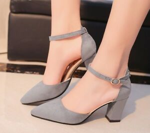 High-Heels-For-Women-Autumn-Spring-Flock-Pointed-Sandal-Fashion-Casual-Shoes-New