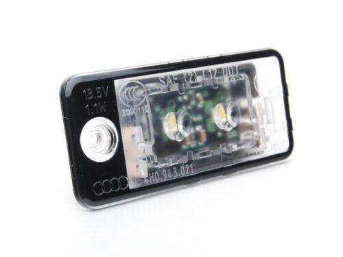 ORIGINALE AUDI LED Illuminazione Targa a3 8p a4 b6 8e b7 a6 c6 4f a5 q7 4l NUOVO