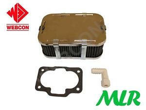 Genuine-Weber-40-42-DCNF-CROMATO-2-5-034-65MM-Filtro-aria-assieme-DINO-AUC