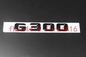 Gloss Black C 300 Letters Trunk Emblem Badge Sticker for Mercedes Benz C300
