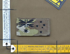Ricamata-Embroidered-Patch-034-Australia-Flag-034-Multicam-with-VELCRO-brand-hook