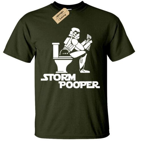STORM POOPER Mens T-Shirt funny design trooper wars banksy hipster jedi sith