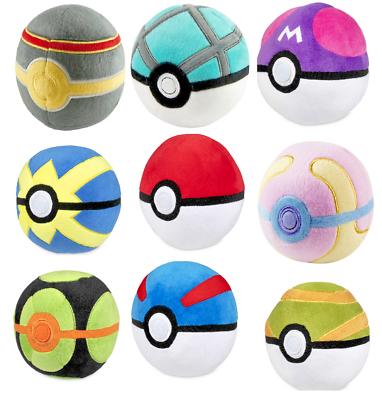 "Tomy-pokemon 5/"" poke ball-official plush-neuf avec étiquettes"