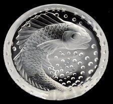 LALIQUE FRANCE FRENCH ART GLASS CONCAREAU FISH CIGAR ASH TRAY ASHTRAY BOWL VASE