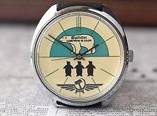 RAKETA Buran Green White Bear Soviet Mechanical Watch qs /Serviced