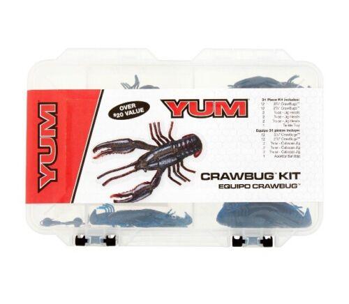 Yum Crawbug Kit 31 PC Pour Bass Fishing 2 CRAWBUG Tailles Avec Boîte modèle ycbk 1