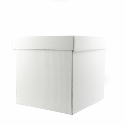 """Heavy Duty White Stacked Wedding Cake Boxes Extra Strong 9/"""" High Select Size"""