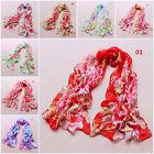 Fashion Women's Girl Chiffon Silk Long Soft Neck Scarf Shawl Wrap Scarves W060