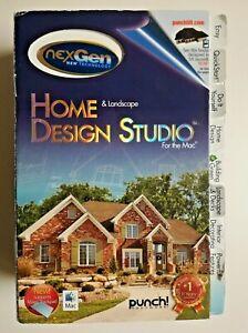 Home Landscape Design Studio Software For The Mac Nexgen Future Plan W Manual Ebay