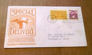 1944! Special Delivery! Orange Cachet! w/(1) 3 & (1) 17 Cent Stamps! VG Cond!