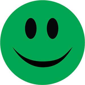 Details About Smiley Face Sticker Green Novelty Humorous Vinyl Sticker 10 Cm X 10 Cm