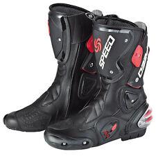 NEW Motorcycle Street Bike Biker Racing Boots Black Size US 7 8 9 9.5 10.5 11