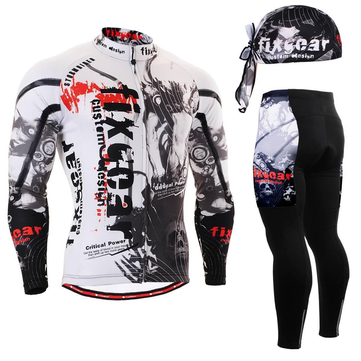 FIXGEAR CS-3001 SET Cycling Jersey Jersey Cycling & Padded Pants,MTB Bike,BMX,Beanie Free GIFT f85f28