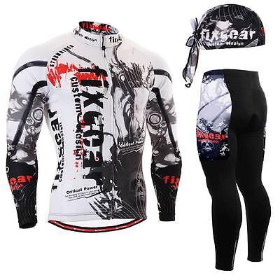 FIXGEAR CS-1801 SET Cycling Jersey /& Padded Pants,MTB Bike,BMX,Beanie Free GIFT