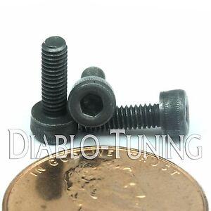 Qty10 M2.5 2.5mm Black Alloy Class 12.9 Allen Hex Head Socket Cap Screw DIN912