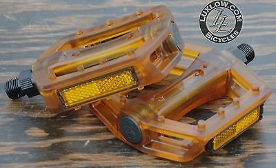 """Red Iped Platform Bicycle Pedals 9//16/""""  BMX MTB FiXiE Track Road Bike Cruiser"""