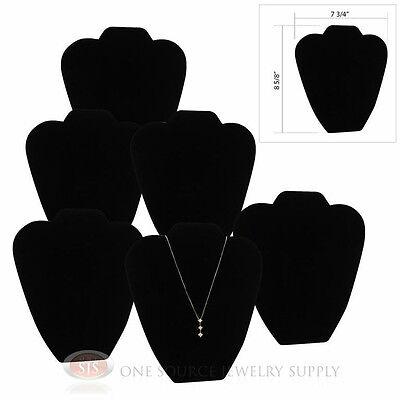 "(6) 8 5/8"" Black Velvet Padded Pendant Necklace Display Easel Presentation"